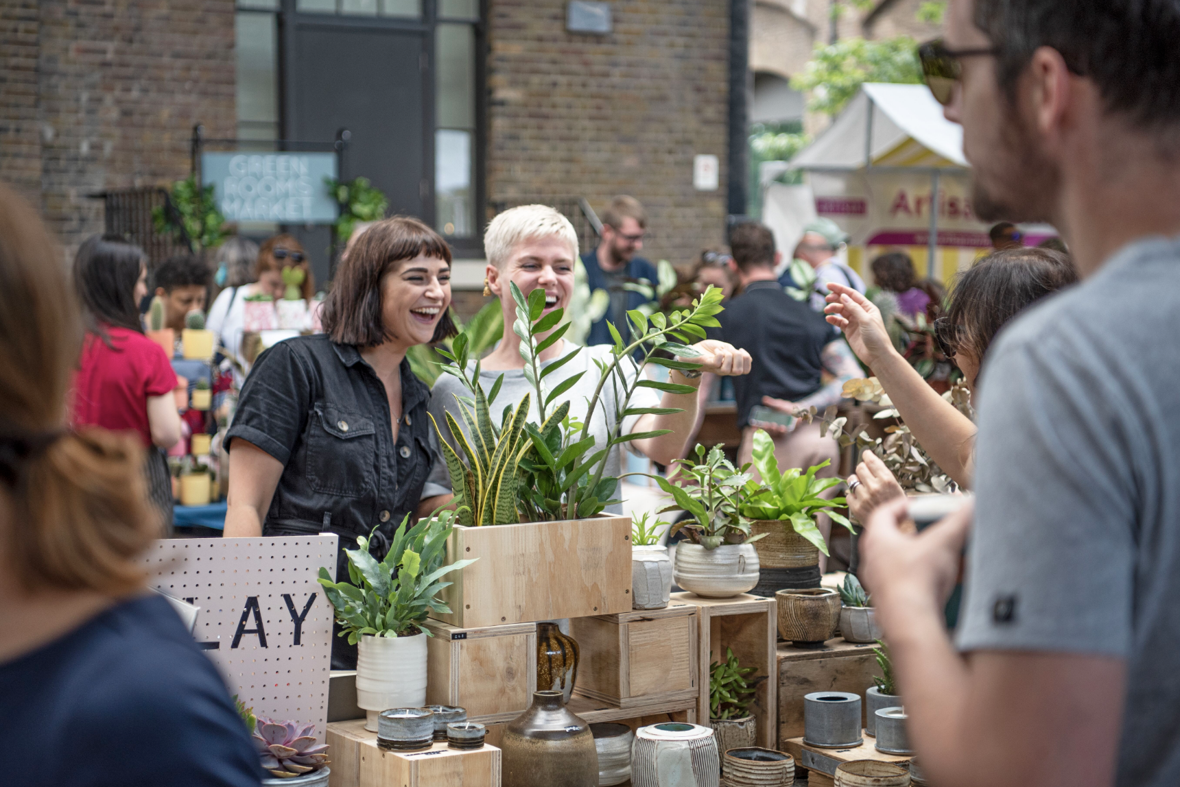 Urban Jungle East at Old Spitalfields Market with Green Rooms Market 1, Pedddle