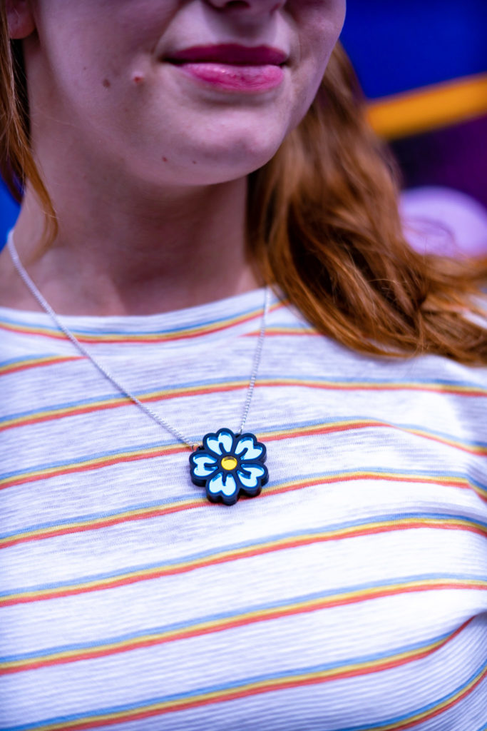 Miroo, Blue Flower necklace