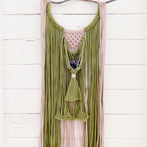 White January, Crystal Macrame Wall Hanging. Pedddle