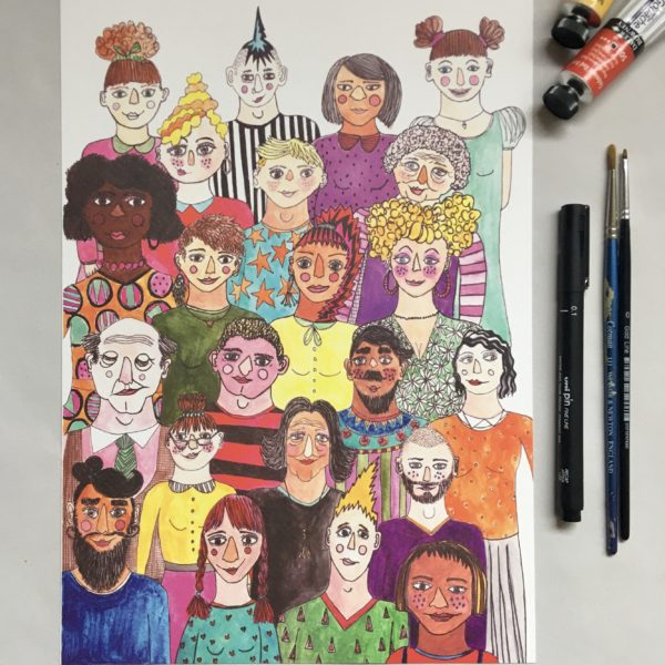 Illustrated Print, Everyone is beautiful, by Made by Nomela