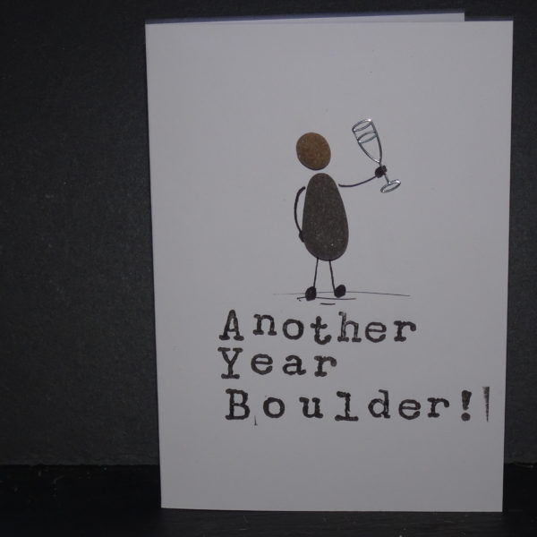 Another year boulder Pebble birthday card