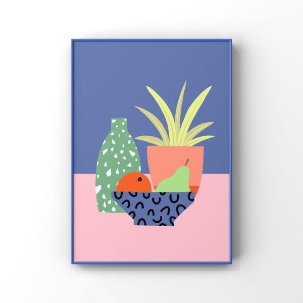 Digital abstract print