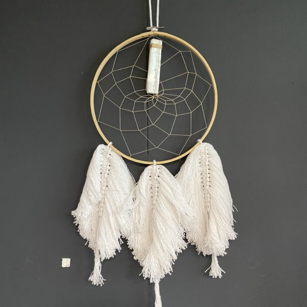 White January, Bohemian Macrame / Crystal Dreamcatcher. Pedddle White January, Macrame 2. Pedddle