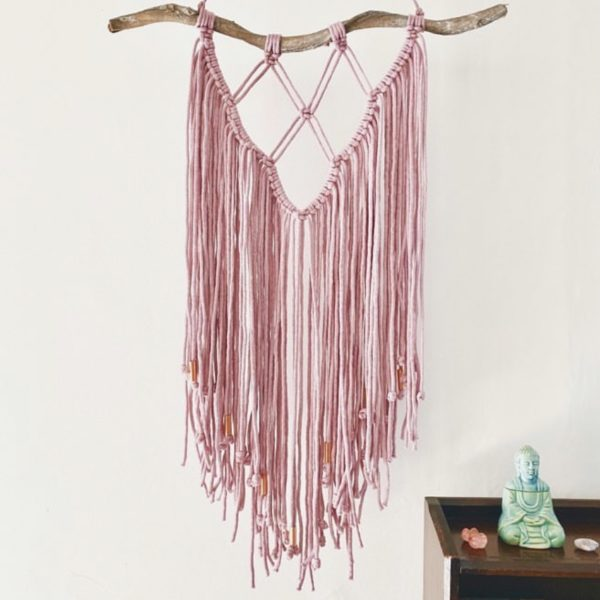White January, Pink and Copper Wallhanging. Pedddle