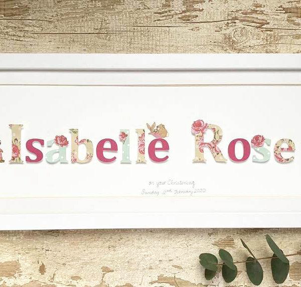 Personalised Paper Cut Name Frame