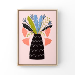 Abstract vase print