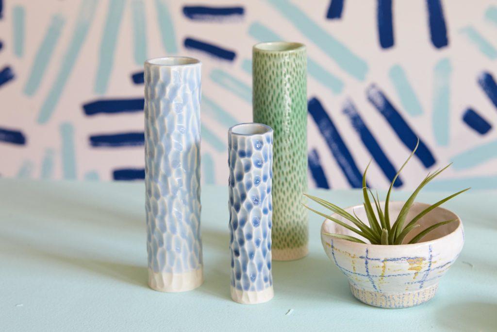 Series of Anna vases by Clara Castner
