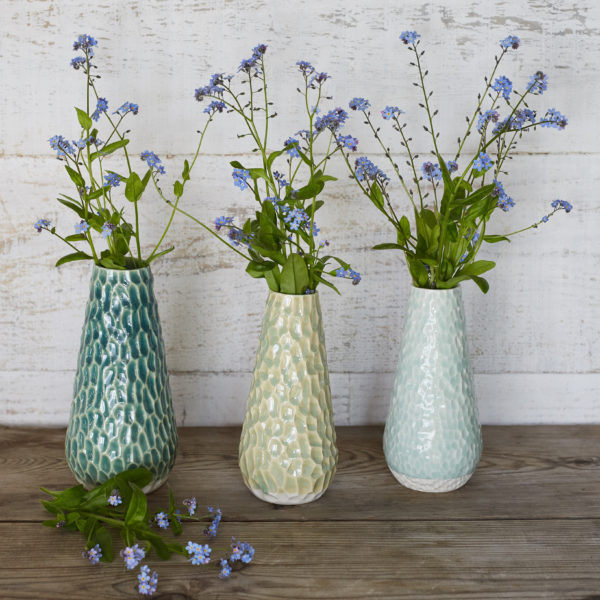 Three Charlotte vases by Clara Castner