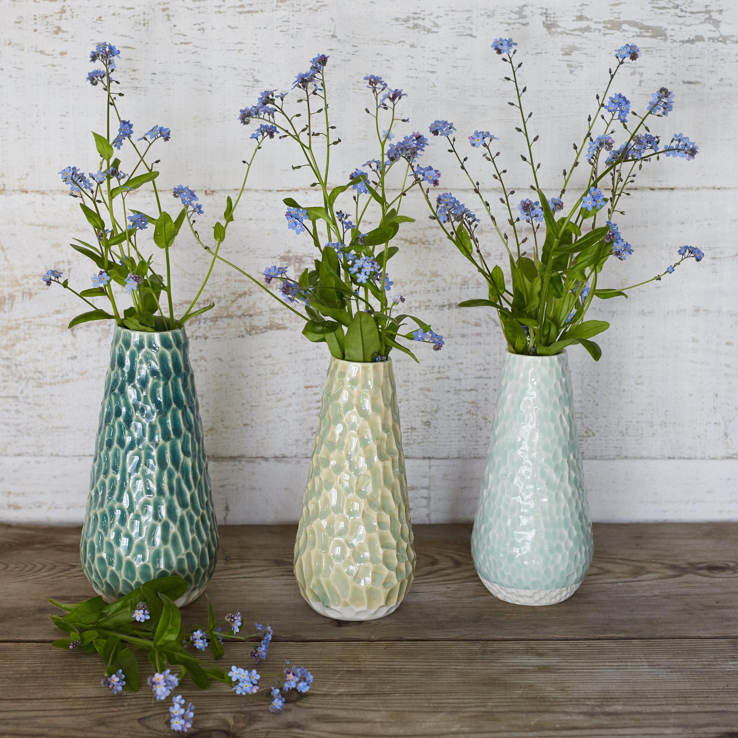 Three Charlotte vases by Clara Castner