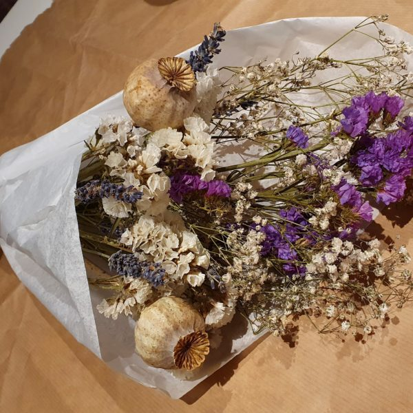 Willow and Rose, Dried flowers