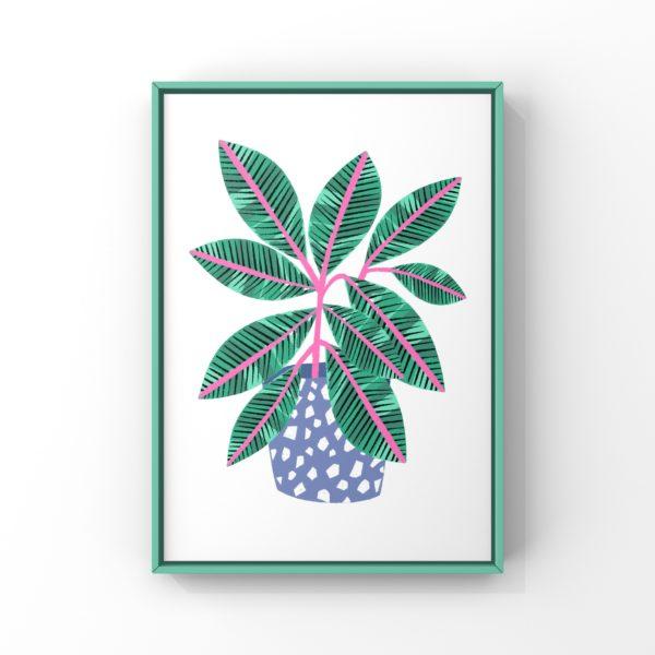 Leaf digital print