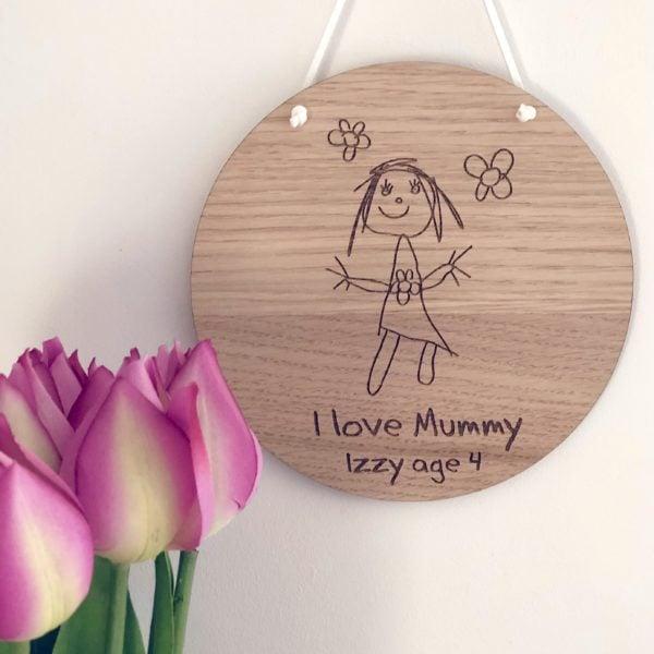 Hannah Joy Designs, Children's drawing engraved plaque