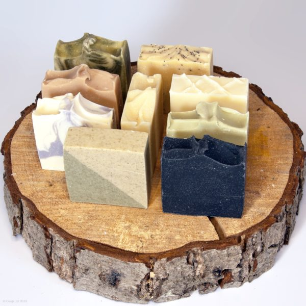 9 Goap Soaps on a log, Elizabeth Macbeth. Pedddle