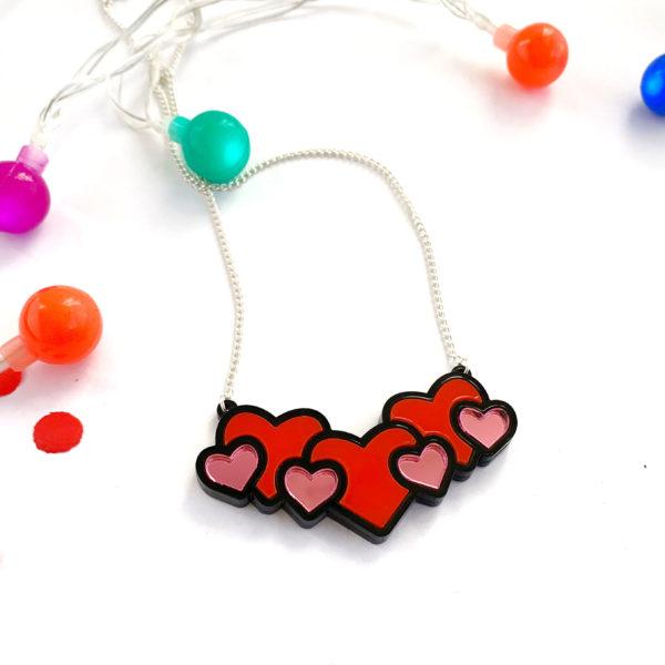 Acrylic Hearts necklace