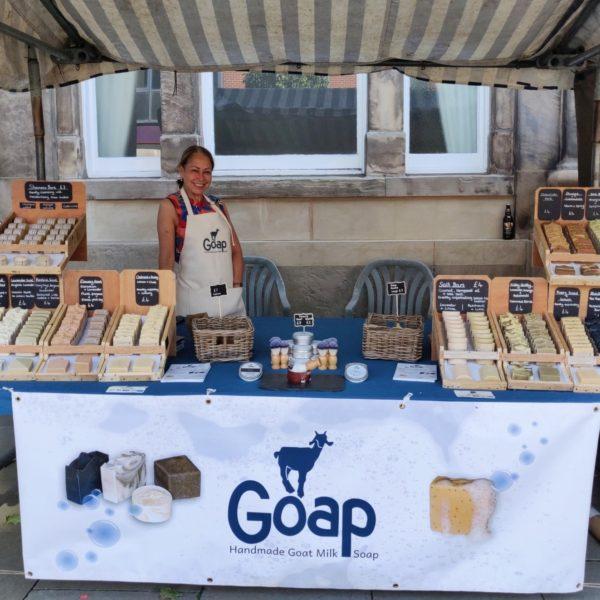 Goap market stall, Elizabeth Macbeth. Pedddle