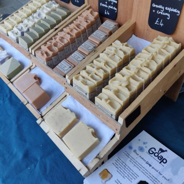 Goap soap stands at Treacle Market