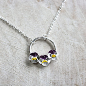 Jess Withington Jewellery, pansy. Pedddle