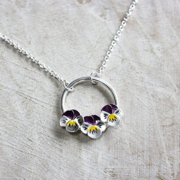 Jess Withington Jewellery, pansy. Pedddle