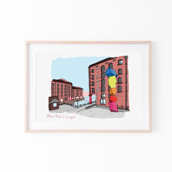 Moo and Snip, Liverpool Albert Dock Print