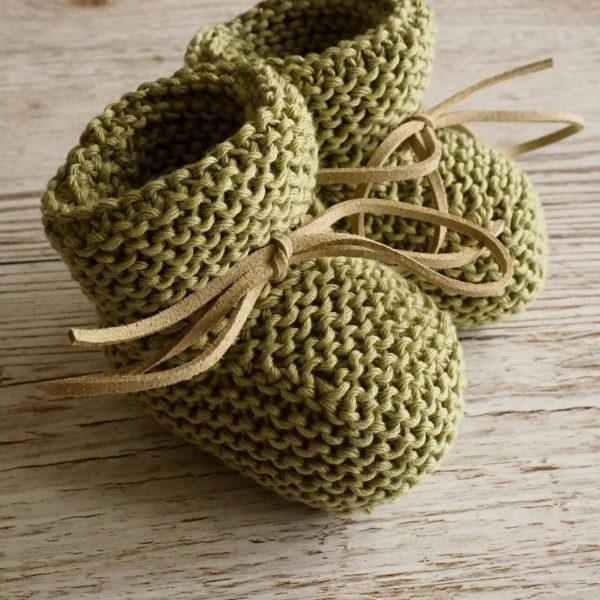 Acorn Booties in Olive