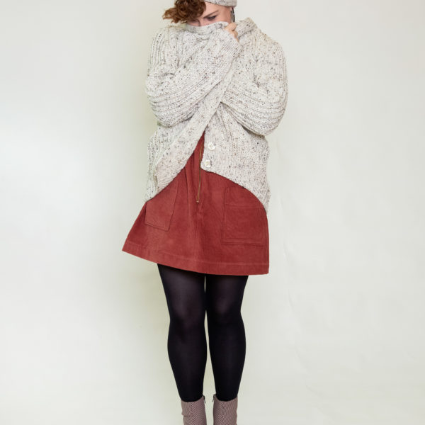 Hand-knitted Jane cardigan, Sew What