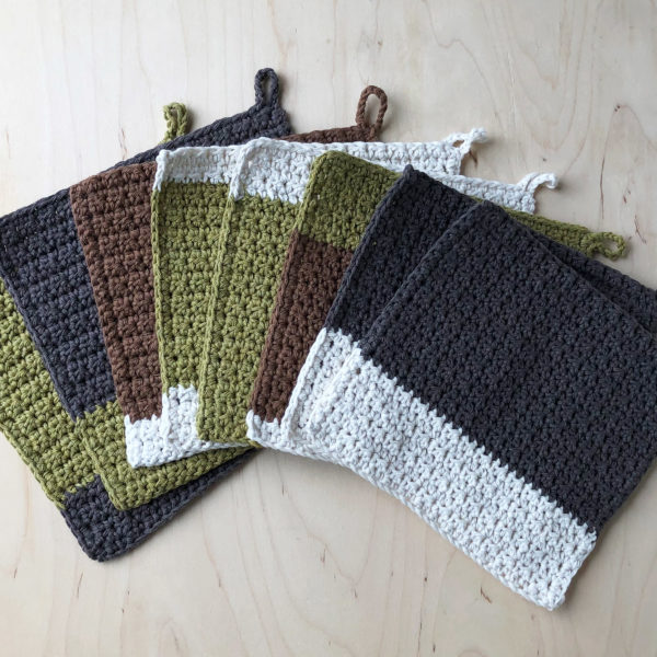 100% recycled cotton reusable dish cloth