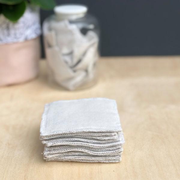 Organic cotton reusable face wipes