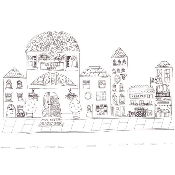 Glasshouse Street, Illustrated print, Made by Nomela