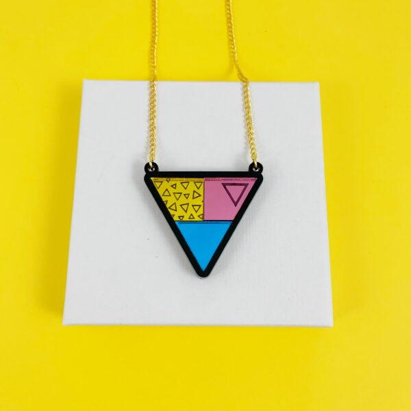 Acrylic Triangles necklace