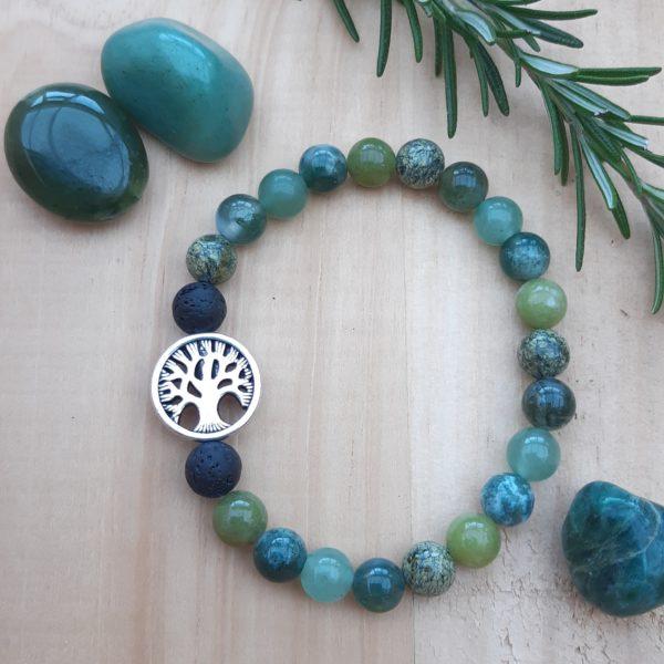 Flat lay of Tree of Life bracelet, The Sage Tree Studio