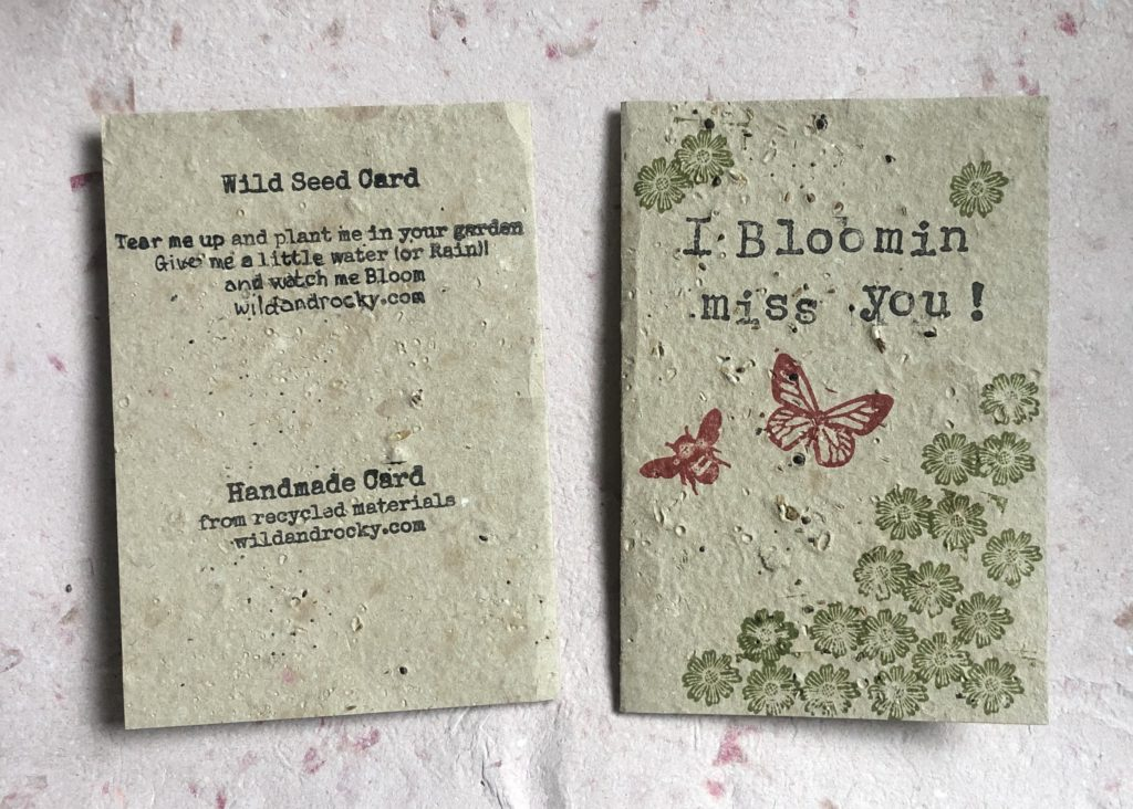 I Bloomin Miss you Seed greeting card