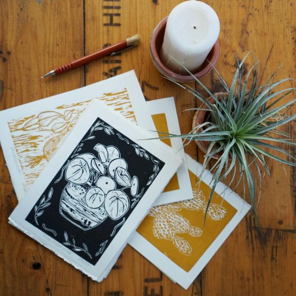 LDMDesign, lino prints. Pedddle