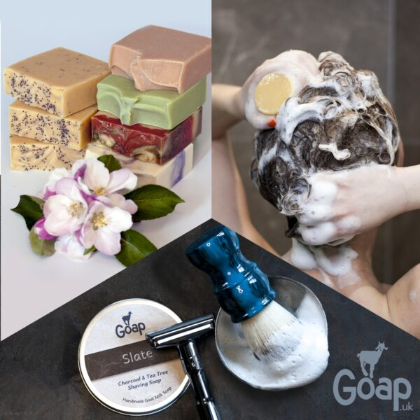 Goap soaps, shampoos and shaving soaps