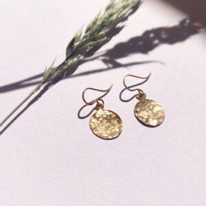 Handmade Gold Filled Hammered Disc Earrings