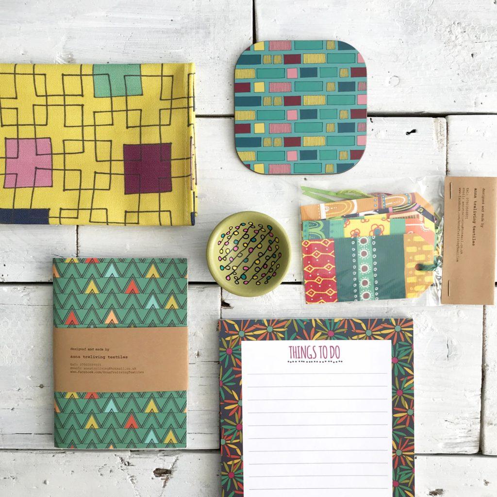 Anna Treliving Design's Range of Vibrant patterned Homewares and Stationery