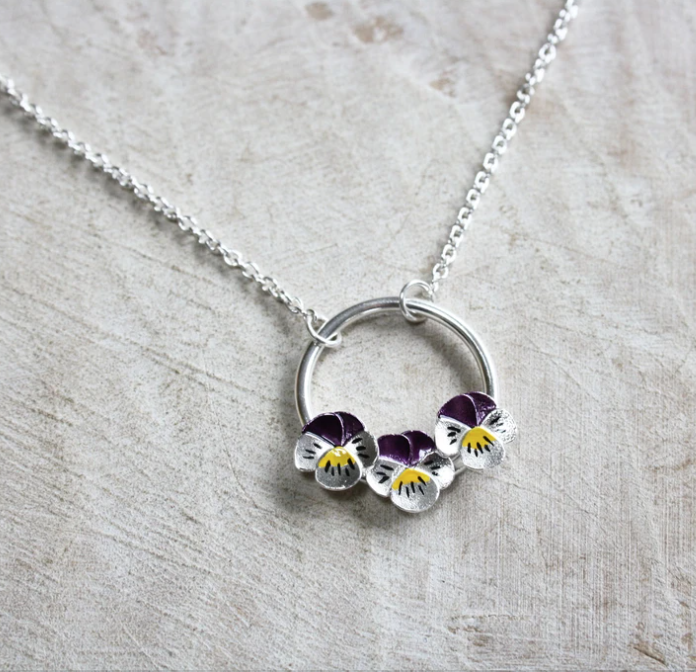 Jess Withington Jewellery, Pansy necklace