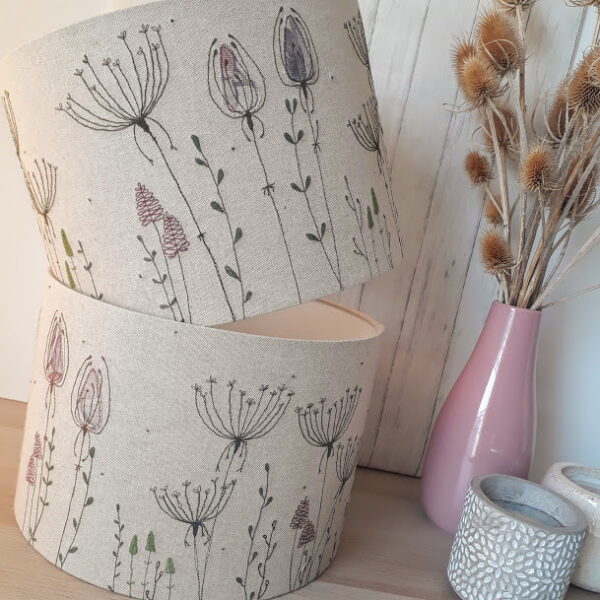 Meadow embroidered large lampshade