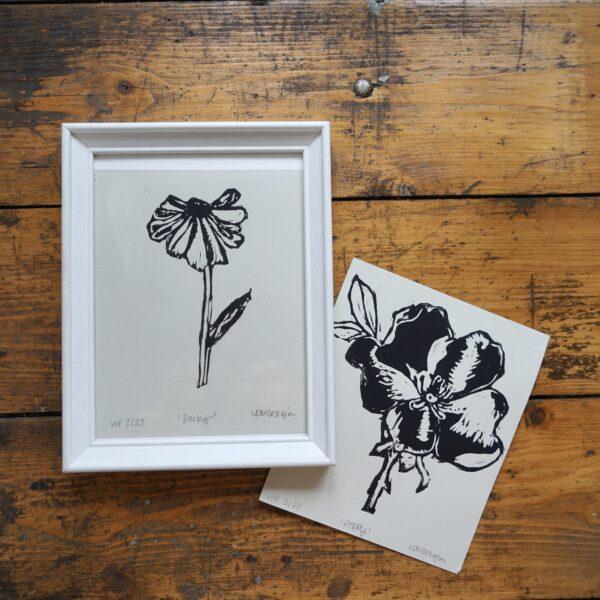 LDMDesign- Poppy & Daisy original Linocut print