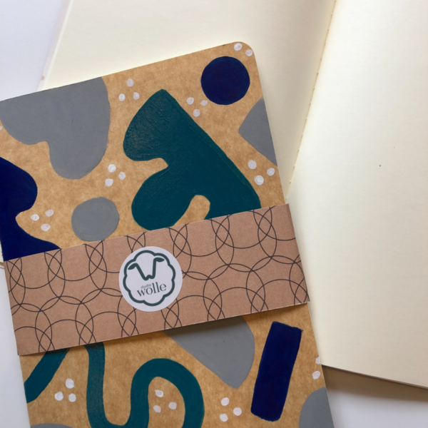 Hand-painted plain notebook for drawing or sketching