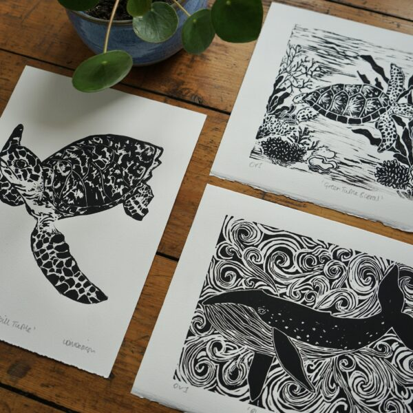 LDMDesign- Sea life original Linocut prints