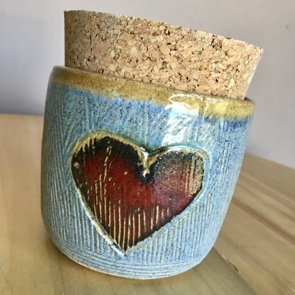 Karin findell ceramics, Heart jar from folksy.com/shops/karinfindellceramics jar with cork lid