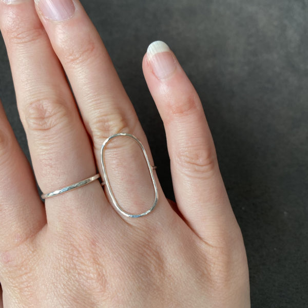 Cicee large oval ring