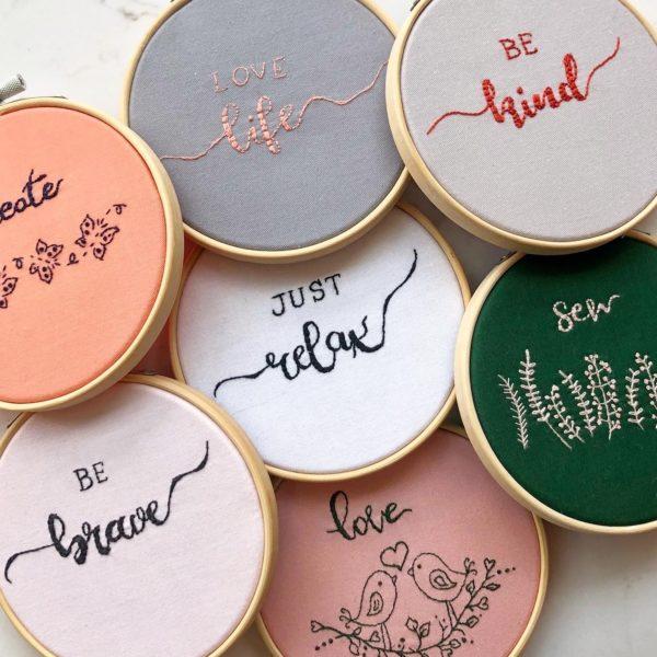 Handmade Embroidery Hoops