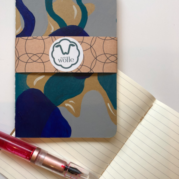 Hand-painted ruled pocket notebook