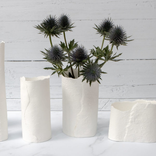 DAS Pottery | A selection of white, fine bone china vases and vessels
