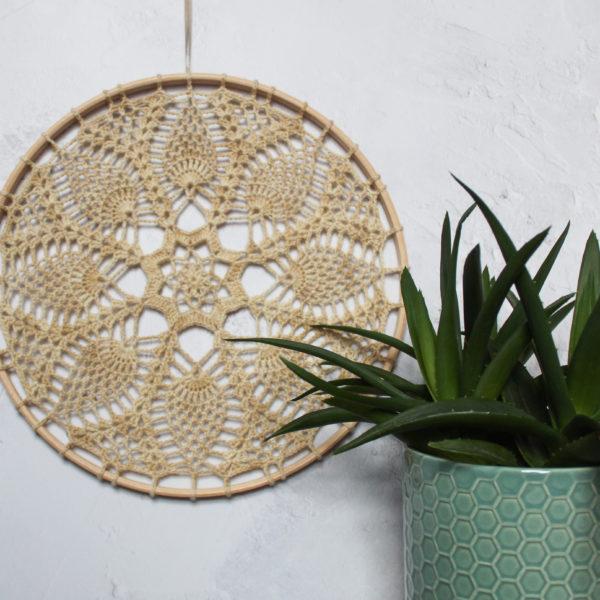 Sandy crochet wall art