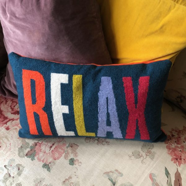 Consciously Creative, Relax petit point cushion
