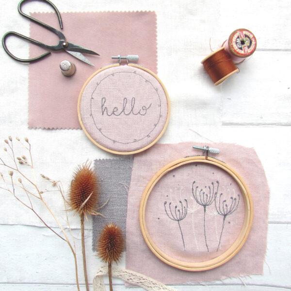 Hello & Meadow Embroideries Hoop Wall Art