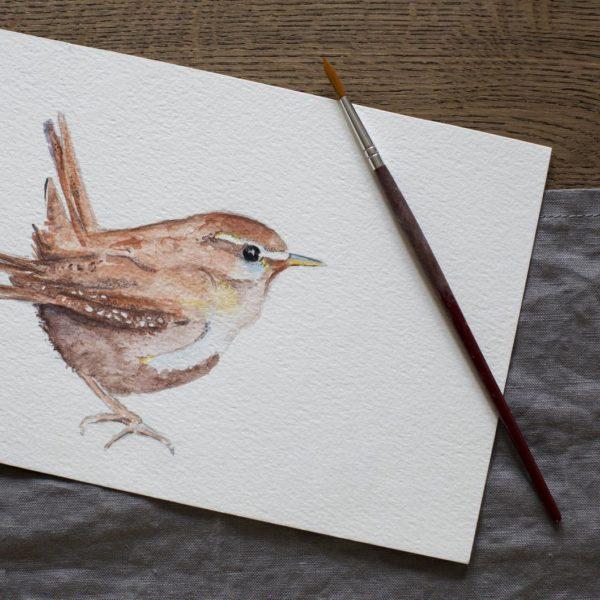 Jenny Wren Original watercolour