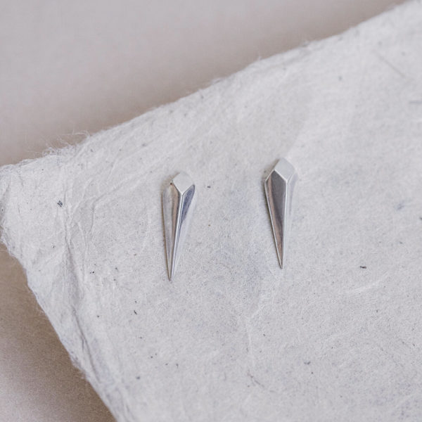 Laconic-Facet-Long-Drop-Silver-Stud-Earrings-Packshot